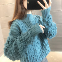 sweater Winter 2020 S M L XL Long sleeves Socket singleton  Regular other 95% and above Half high collar Regular commute routine Solid color Straight cylinder Regular wool Keep warm and warm You've got to go thread Other 100% Pure e-commerce (online only)