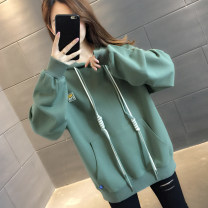 Sweater / sweater Autumn 2020 Green yellow dark grey blue S M L XL Long sleeves routine Socket singleton  routine Hood easy commute routine Solid color 96% and above You've got to go Korean version other A06203 pocket Other 100%