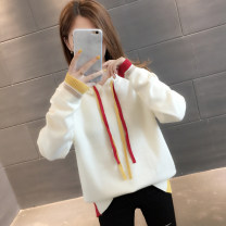 Sweater / sweater Autumn of 2019 Beige blue Khaki Green Black S M L XL Long sleeves routine Socket singleton  routine Hood easy commute routine Solid color 96% and above You've got to go Korean version other A02459 Other 100% Pure e-commerce (online only)