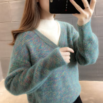sweater Autumn of 2019 S M L XL Long sleeves Socket Fake two pieces Regular other 95% and above Half high collar Regular commute routine shape Straight cylinder Regular wool Keep warm and warm You've got to go Other 100% Pure e-commerce (online only)