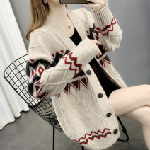 Wool knitwear Autumn 2020 S M L XL Beige red dark blue Long sleeves singleton  Cardigan other More than 95% Regular routine commute easy V-neck routine Single breasted Korean version F6591 You've got to go Pocket screw button Other 100%