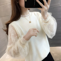 sweater Autumn 2020 S M L XL Long sleeves Socket singleton  Regular other 95% and above Crew neck Regular routine Solid color Straight cylinder Regular wool Keep warm and warm 18-24 years old You've got to go Lace Other 100% Pure e-commerce (online only)