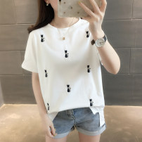 T-shirt S M L XL Summer of 2019 Short sleeve Crew neck easy Regular routine commute other 96% and above Korean version Animal design You've got to go Other 100% Pure e-commerce (online only)
