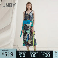 Dress Spring 2021 901 / multicolor hybrid / gradient, 920 / khaki multicolor hybrid XS,S,M,L,XL longuette Sleeveless commute V-neck Big flower Socket other routine camisole 25-29 years old Type A JNBY / Jiangnan cloth clothing Simplicity 5K5501040-- More than 95% other polyester fiber
