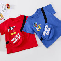 T-shirt Red, dark blue, long red, long dark blue Other / other 80cm, 90cm, 100cm, 110cm, 120cm, 130cm, 140cm, long mom's average size neutral summer Short sleeve Crew neck Korean version No model nothing cotton Cartoon animation Cotton 100% Class A Sweat absorption Over 14 years old Chinese Mainland