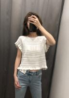 Wool knitwear Summer of 2019 S,M,L White, black Short sleeve singleton  Socket other 31% (inclusive) - 50% (inclusive) Regular