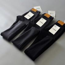Jeans Winter 2017 S,M,L,XL,2XL trousers High waist Pencil pants thickening Cotton denim Dark color