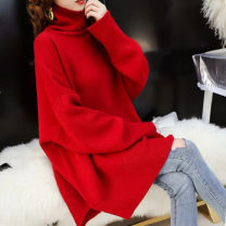Women's large Winter of 2019 1023 red, 1023 black 3xl200-250kg, 4xl250-310kg, 2xl170-200kg, xl145-170kg sweater singleton  commute easy moderate Socket Long sleeves Korean version Medium length other