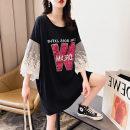Women's large Summer 2020 2265 black 3xl140-170, 4xl170-200, 5xl200-235, 6xl235-270, 7xl270-310 Dress singleton  easy moderate Socket Polyester, cotton 25-29 years old