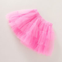 skirt 100cm,110cm,120cm,130cm,140cm Pink Other / other female Polyester 100% summer leisure time Solid color cotton L1230-08