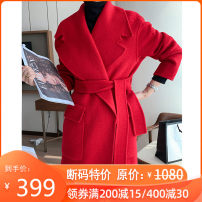 woolen coat Autumn of 2019 S,M,L Red, camel, black wool 95% and above have more cash than can be accounted for Long sleeves commute routine other Simplicity QXY-SMN3217 Xuesnorol / snow cashmere