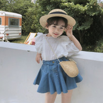 suit Other / other 90cm,100cm,110cm,120cm,130cm female summer Korean version Sleeveless + pants 2 pieces There are models in the real shooting Solid color Other 100% Three, four, five, six, seven, eight