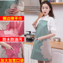 apron Coffee, red, green, 2 Pack [coffee + green], 2 Pack [red + green], 2 Pack [coffee + Red] Sleeveless apron waterproof Japanese  Household cleaning Average size Home apron other public