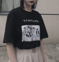 T-shirt Black, white S,M,L,XL,2XL,3XL Summer of 2019 street cotton 96% and above 18-24 years old Other / other 6677# neutral