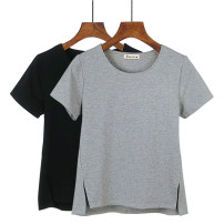 T-shirt Black, white, grey S. M, l, XL, 2XL, a small gift for collection Spring of 2019 Short sleeve Crew neck easy Regular routine commute cotton 86% (inclusive) -95% (inclusive) 25-29 years old Korean version youth Hani tide 8614 solid