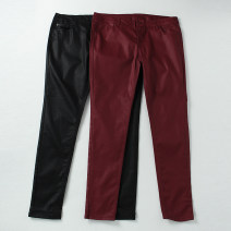 Casual pants Black, red 8,10,12,14,16 Spring 2020 trousers Natural waist commute Thin money 31% (inclusive) - 50% (inclusive) polyester fiber Simplicity pocket cotton