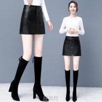 skirt Winter 2016 S,M,L,XL,XXL,XXXL,4XL,5XL Yellow, black#$ Short skirt skirt Solid color VHA8300