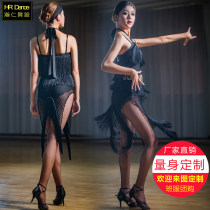 Latin dance practice set Hanren dance clothes female black S M L XL XXL LXG2018-077 Sleeveless Remba Chacha Samba cowboy bullfight