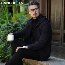 Jacket Langbicha / langbi shark Fashion City dark blue 175/L routine Q81817 Polyurethane elastic fiber (spandex) 16% others 84% Autumn of 2018 Pure e-commerce (online only)