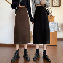 skirt Winter 2020 S [90-100kg], m [100-110kg], l [110-120kg], XL [120-135kg], 2XL [135-150kg], 3XL [150-165kg], 4XL [165-175kg], 5XL [175-200kg] Black, brown Mid length dress commute High waist A-line skirt Solid color Type A 18-24 years old 71% (inclusive) - 80% (inclusive) Coardiarn / Kuandian