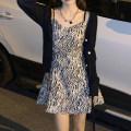 Dress Spring 2021 Zebra black S [80-100 Jin], m [100-110 Jin], l [110-120 Jin], XL [120-135 Jin], 2XL [135-150 Jin], 3XL [150-165 Jin], 4XL [165-175 Jin], 5XL [175-200 Jin] Short skirt Sleeveless commute Zebra pattern A-line skirt Retro