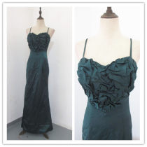 Dress / evening wear Wedding adult party company annual meeting performance M Malachite green Poplin
