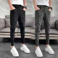 Casual pants Others Youth fashion Black, gray, light gray, black 801 # casual pants, black 806 # casual pants, gray 809 # casual pants, black 809 # casual pants, black 811a # casual pants 27,28,29,30,31,32,33,34,35,36 thin Ninth pants Other leisure Self cultivation Micro bomb 812#A spring youth tide