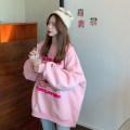Women's large Winter 2020, autumn 2020 Black, green, pink S (75-95 kg), m (95-105 kg), l (105-120 kg), XL (120-140 kg), 2XL (140-160 kg), 3XL (160-180 kg), 4XL (180-200 kg) Sweater / sweater singleton  commute easy thickening Socket Long sleeves Cartoon animation Korean version Crew neck other