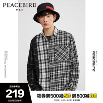 shirt Fashion City Peacebird S M L XL XXL XXXL XXXXL Checkerboard 1 routine Pointed collar (regular) Long sleeves easy Other leisure autumn BWCAA1828 youth Polyester 68% viscose 32% tide 2020 stripe Plaid Autumn 2020 other polyester fiber Pure e-commerce (online only)