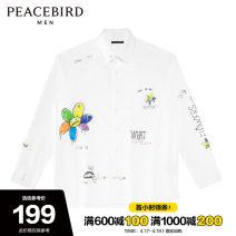 shirt Fashion City Peacebird S M L XL XXL XXXL XXXXL routine Pointed collar (regular) Long sleeves easy Other leisure autumn youth Cotton 100% tide 2020 other Autumn 2020 cotton other Pure e-commerce (online only) More than 95%