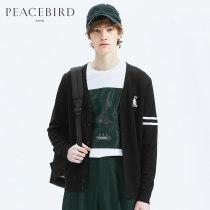 T-shirt / sweater Peacebird Fashion City black XXL routine B1EA83110 Wool 50% polyacrylonitrile fiber (acrylic fiber) 50% Autumn of 2018 Same model in shopping mall (sold online and offline)