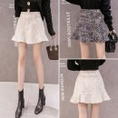 skirt Autumn 2020 S,M,L,XL,2XL Black, apricot Short skirt Versatile High waist Irregular other Type A 25-29 years old 91% (inclusive) - 95% (inclusive) other
