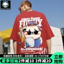 T-shirt Youth fashion routine 3XL 165/S 170/M 175/L 180/XL 185/2XL 4XL 5XL Hollyfield Short sleeve Crew neck easy daily summer HLMDXTX21126S-506795 Cotton 100% Large size routine tide Cotton wool Spring 2021 Cartoon animation printing Creative interest No iron treatment Fashion brand