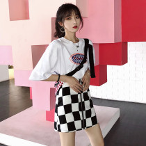Casual suit Summer of 2018 Top skirt S m average 18-25 years old 0167 Other / other 51% (inclusive) - 70% (inclusive) cotton