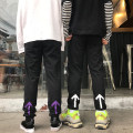 Casual pants Black and white black purple M L Summer of 2018 trousers commute routine 18-24 years old 51% (inclusive) - 70% (inclusive) Other / other polyester fiber Korean version polyester fiber
