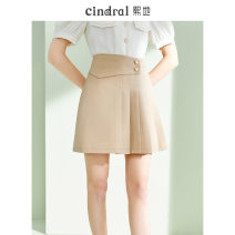 skirt Summer 2021 S M L XL Coffee color (15 days in advance) Short skirt commute High waist A-line skirt Solid color Type A 25-29 years old XH10494 More than 95% Xi di polyester fiber Asymmetrical button pleat Polyethylene terephthalate (polyester) 100% Pure e-commerce (online only)