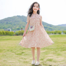 Dress Yellow red female Youmi house 120cm 130cm 140cm 150cm 160cm 170cm Other 100% summer lady Short sleeve Broken flowers other A-line skirt YMW-20086 Summer 2020 5 years old, 6 years old, 7 years old, 8 years old, 9 years old, 10 years old, 11 years old, 12 years old, 13 years old, 14 years old