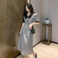Dress Spring 2021 Graph color Average size Mid length dress singleton  Short sleeve commute V-neck High waist lattice Socket A-line skirt routine Others 18-24 years old Type A Other / other Korean version 0314Y 31% (inclusive) - 50% (inclusive) other