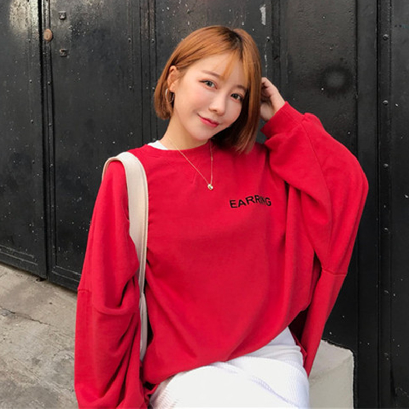 Casual suit Autumn of 2018 Red sweater white sweater black skirt white skirt Average size 18-25 years old 09203005 Other / other 81% (inclusive) - 90% (inclusive) polyester fiber