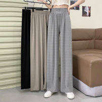 Casual pants Khaki, grey, black Average size Spring 2021 trousers Wide leg pants High waist Versatile routine 18-24 years old 30% and below 0301L Other / other other