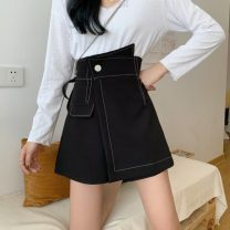skirt Summer 2021 S,M,L black Short skirt commute High waist A-line skirt Solid color Type A 18-24 years old 0418M 31% (inclusive) - 50% (inclusive) other Other / other Korean version