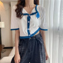 T-shirt White, red, blue, black Average size Summer 2021 Short sleeve Polo collar Self cultivation have cash less than that is registered in the accounts routine commute other 30% and below 18-24 years old Korean version Other / other 0414L