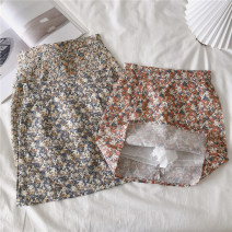 skirt Spring 2021 S,M,L Short skirt commute High waist A-line skirt Broken flowers Type A 18-24 years old 30% and below other Other / other Korean version