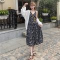 Fashion suit Summer 2021 Average size Black floral skirt, white sunscreen shirt, white coat 18-25 years old Other / other 0412L 30% and below