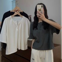 T-shirt Gray, white, black Average size Summer 2021 Short sleeve Crew neck easy have cash less than that is registered in the accounts commute other 30% and below 18-24 years old Korean version Other / other 0407L