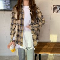 Fashion suit Spring 2021 Average size White hole T-shirt, plaid shirt 18-25 years old Other / other 0311L 30% and below