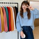 T-shirt White, red, blue, yellow, black, pink, taro purple, pumpkin, lake green, coffee Average size Summer 2021 Long sleeves Crew neck easy Regular puff sleeve commute other 30% and below 18-24 years old Korean version Other / other 0414L