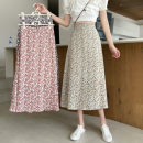 skirt Spring 2021 Average size Light blue, pink, purple Mid length dress commute High waist A-line skirt Decor Type A 18-24 years old 0312L 30% and below other Other / other Korean version