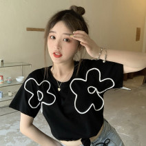 T-shirt Purple, yellow, black Average size Spring 2021 Short sleeve Crew neck Straight cylinder Regular commute other 30% and below 18-24 years old Korean version Other / other 0409L