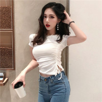 T-shirt White, black Average size Summer 2021 Short sleeve Crew neck Self cultivation have cash less than that is registered in the accounts commute other 30% and below 18-24 years old Korean version Other / other 0417L